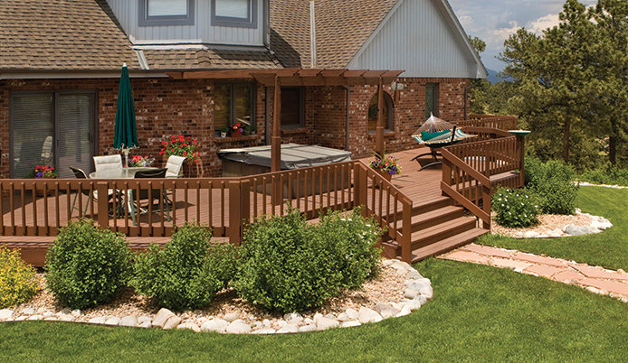 Clean up your landscape and deck.